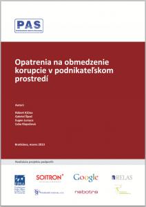 PAS_opatrenia na obmedzenie korupcie v podnikatelskom prostredi_obalka