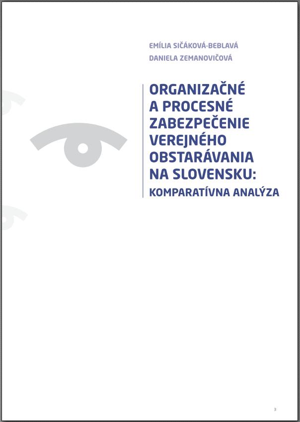 Publikacia Organizacne a procesne zabezpecenie VO na Slovensku picture
